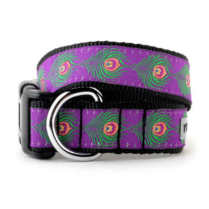Peacock Purple Woven Ribbon Nylon Webbing Pet Cat & Dog Collar