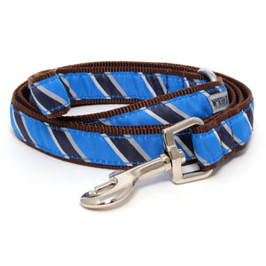 Prep School Blue Woven Ribbon Nylon Durable Premium Pet Cat & Dog Leash