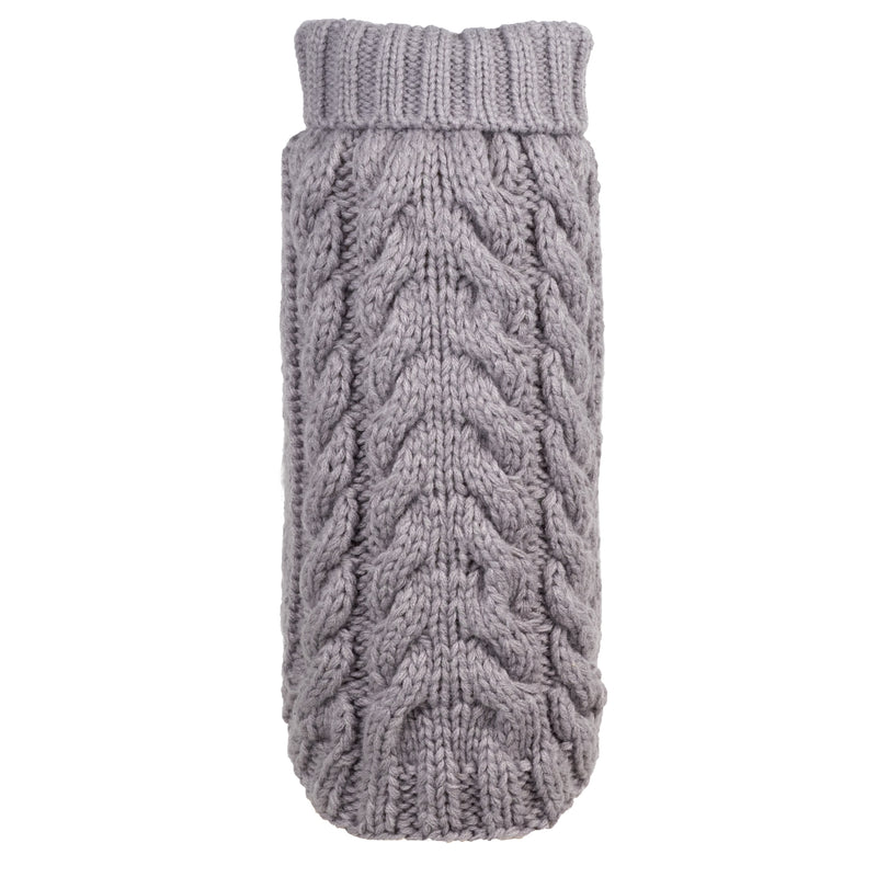 Classic Grey Handmade Double Knitted 100% Ultra-Soft Acrylic Turtleneck Designer Pet Dog Sweater