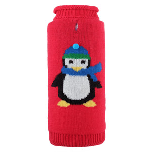 Petey The Penguin Christmas Holiday Ultra-Soft Double Knit Turtleneck Designer Pet Cat & Dog Sweater