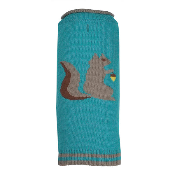 Squirel Squirelly Turtleneck 100% Ultra-Soft Acrylic Double Knit Warm Designer Pet Dog Sweater
