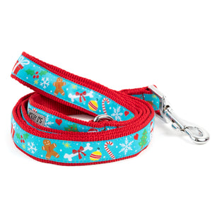 Winter Wonderland Woven Ribbon Nylon Designer Pet Cat & Dog Leash