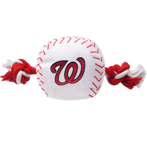 Washington Nationals Plush Baseball Tug Rope Dog Toy