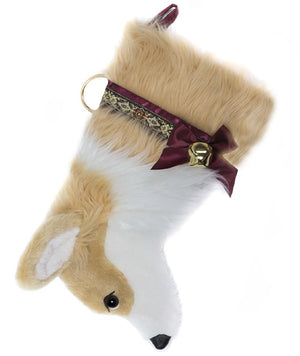 Corgi Puppy Handmade Designer Holiday Christmas Dog Stocking
