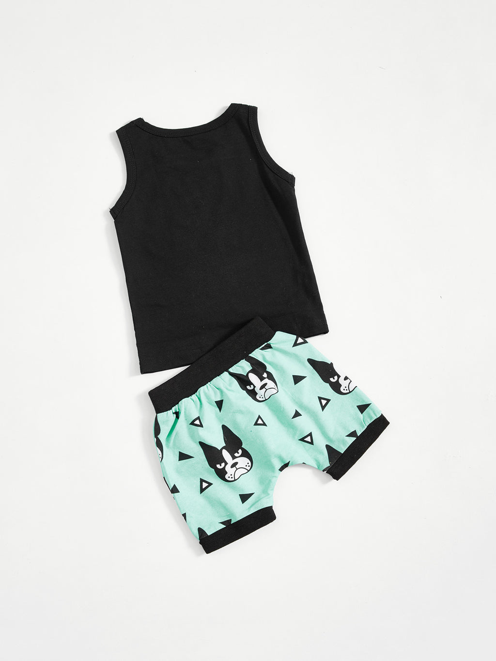 Boys Print Shirt With Frenchie Shorts