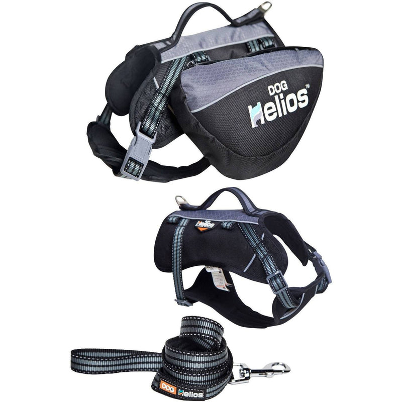 Dog Helios Freestyle 3-in-1 Bag Harness & Leash Explorer Sporty Outdoor Convertible Pet Dog Backpack