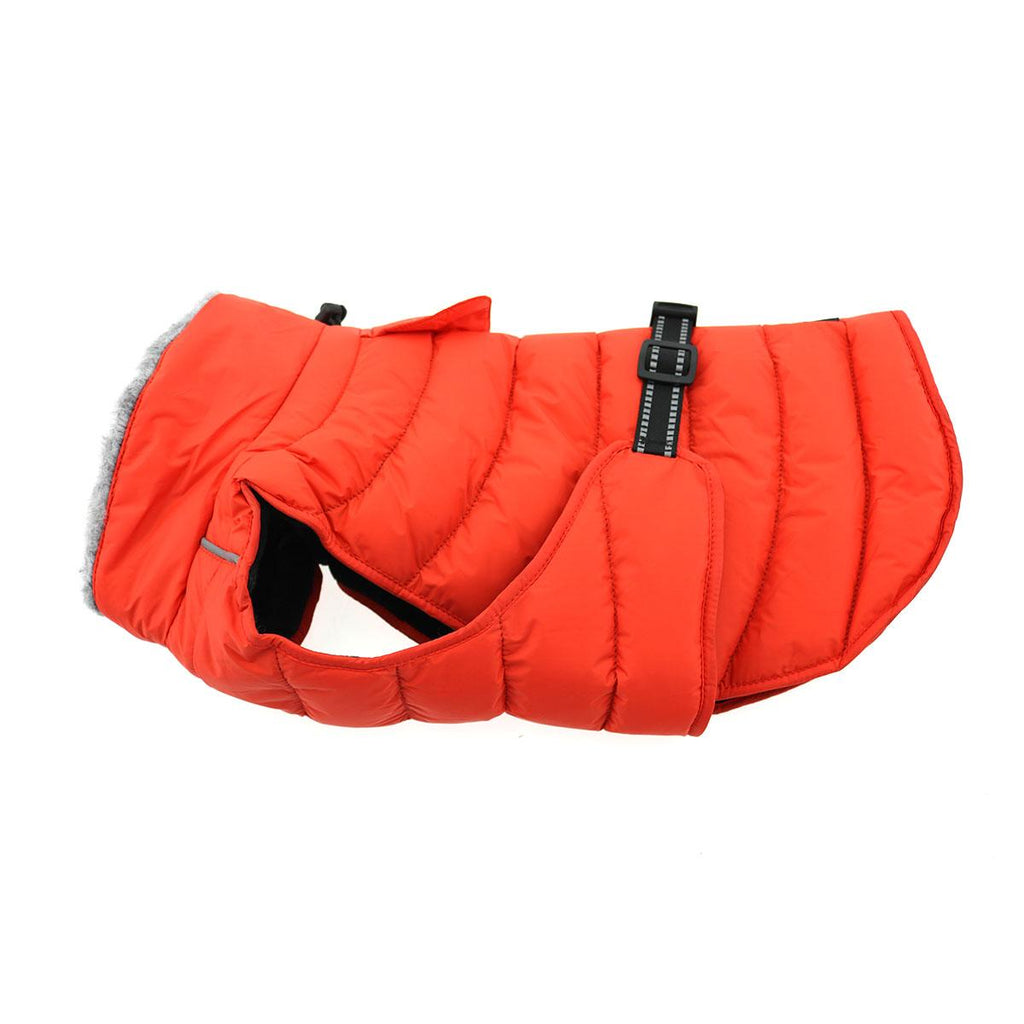 Alpine Extreme Weather Puffer Waterproof Warm Fleece Designer Winter Dog Coat Jacket - Orange