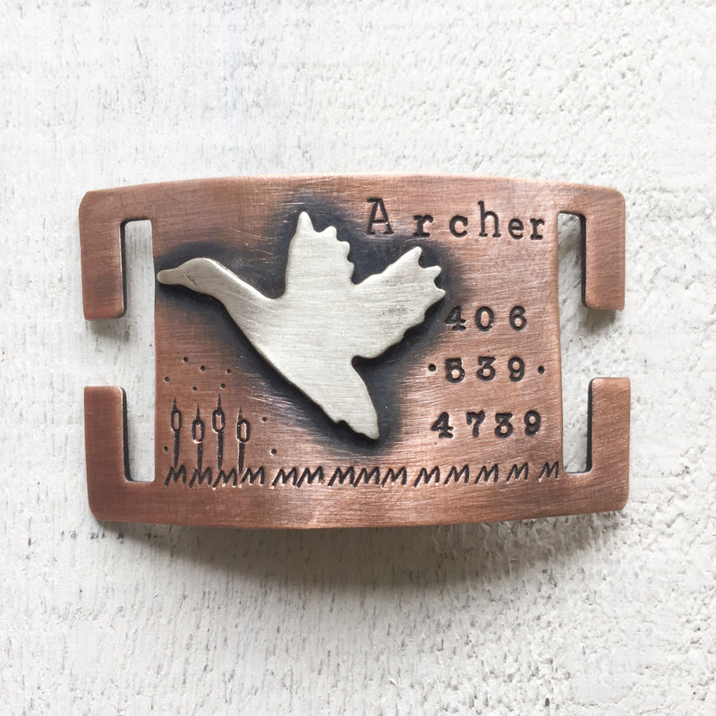 Archer Quiet Artisan Handstamped Designer Pet Dog ID Tag (Personalize)