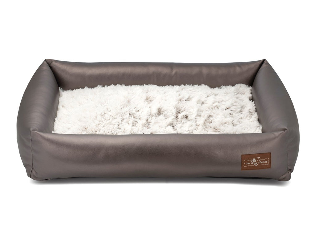 Arctic Shag Memory Foam Hybrid Cuddler Water-Resistant Dog Bed