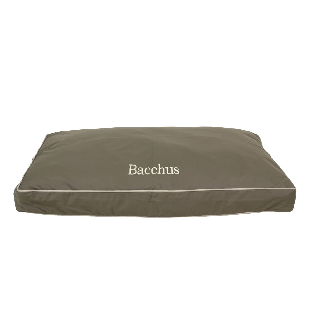 Classic Canvas Rectangle Jamison Eco-Friendly Durable Memory Fiber Pet Dog Bed (Customize / Personalize)