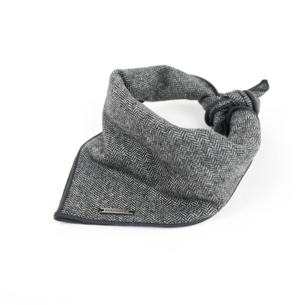Banjo Barkholic Luxury Classic Grey Dog Bandana