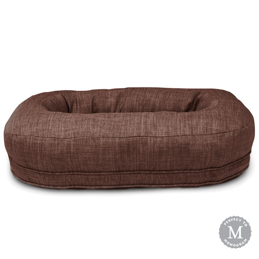 Harry Barker Designer Martello Bolster Oval Orthopedic Dark Brown Dog Bed (Personalize with Dogs Name)