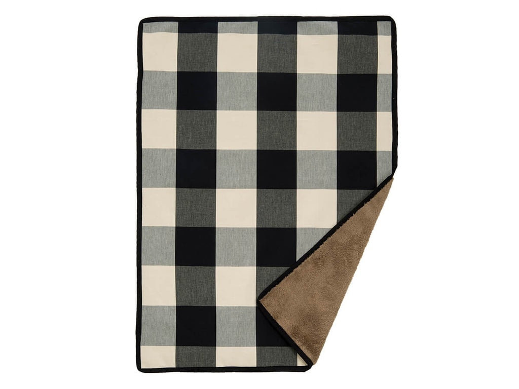 Buffalo Check Black Ultra-Plush Fuzzy & Soft Durable Cotton Luxury Designer Pet Dog Blanket