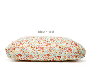 Blue Floral Deluxe Fitted Linen Cover for B&G Martin Pet Beds