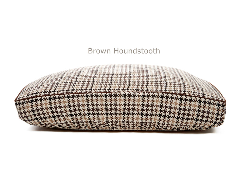 Brown Houndstooth Deluxe Fitted Linen Cover for B&G Martin Pet Beds