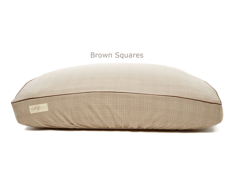 Brown Squares Deluxe Fitted Linen Cover for B&G Martin Pet Beds