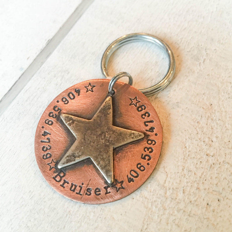 Bruiser Artisan Handstamped Pet Dog ID Tag (Personalize)