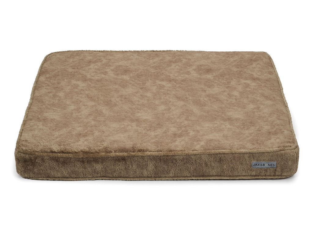 Bruno Taupe Poly Blend Ultra-Thick NASA Grade Memory Foam USA Made Dog Bed