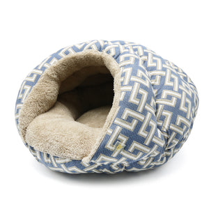 Luxury Security Cave Geometric Cat / Dog Pet Bed