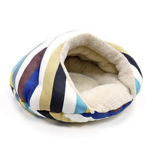 Luxury Security Cave Stripes Cat / Dog Pet Bed
