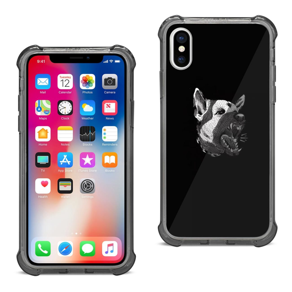 Reiko iPhone X Roaring Wolf Air Cushion Cellphone Case