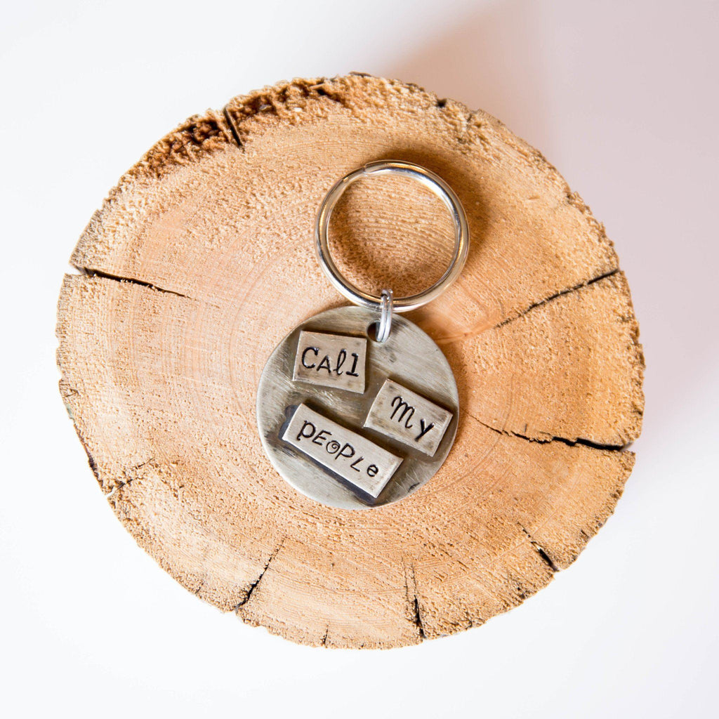 Call My People Artisan Handstamped Pet Dog ID Tag (Personalize)