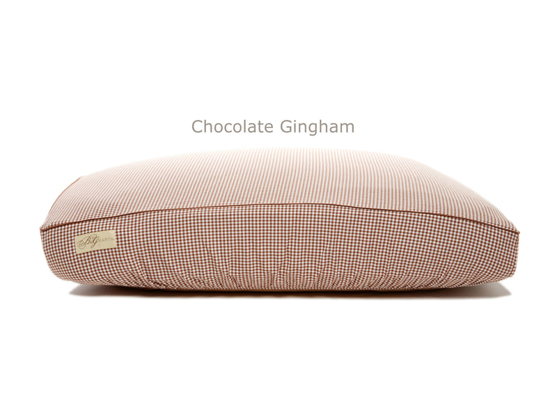 Chocolate Gingham Deluxe Fitted Linen Cover for B&G Martin Pet Beds
