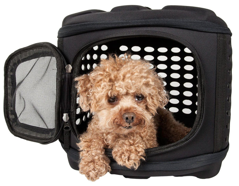 Circular Shelled Perforated Lightweight Collapsible Military Grade Travel Pet Dog Carrier