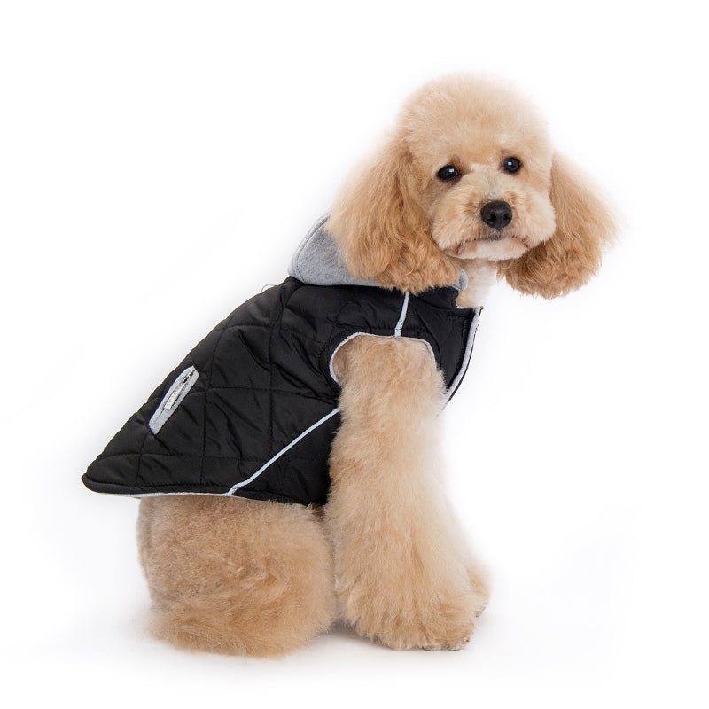 City Puffer Dog Jacket Black