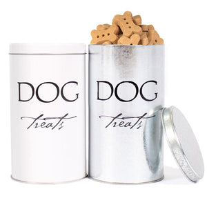 Harry Barker FDA Approved USA Made Classic Dog Treats and Designer Silver Tin Container