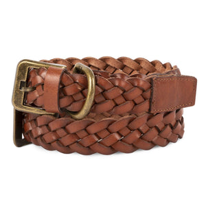 Harry Barker Braided 100% Genuine Leather Brown Premium Designer Sturdy Dog Collar