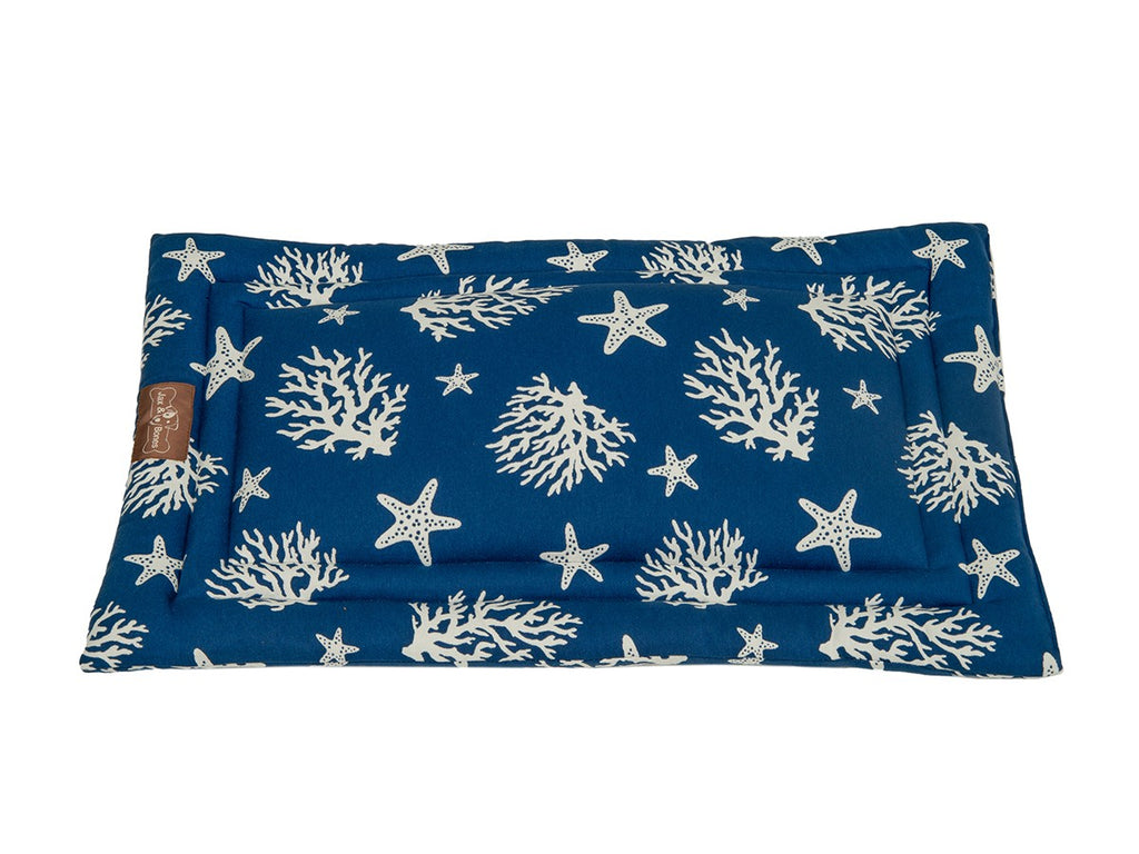 Cove Navy Luxury Travel & Crate Pet Bed Mat