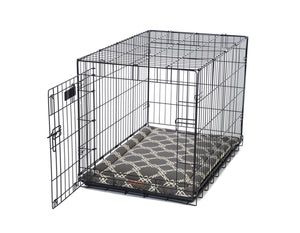 Kratos Smoke Dark Grey & White Dog Crate Cover Up Set USA Made by Jax and Bones