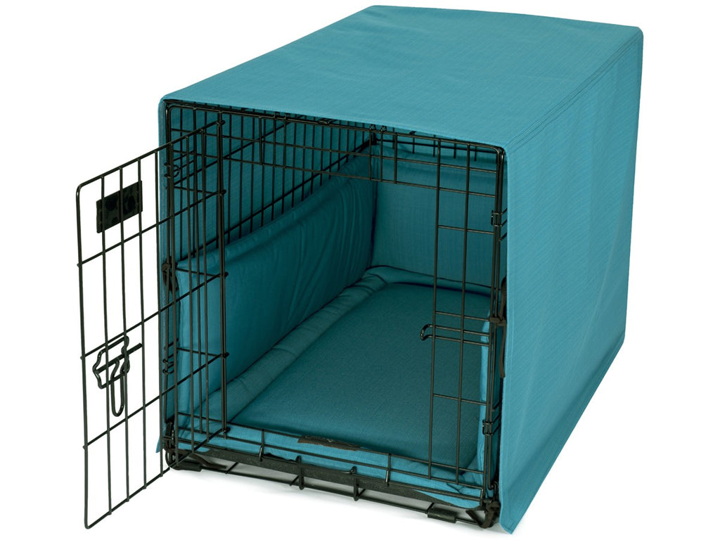 Bay Caribbean Dog Crate Cover Up Set USA Made by Jax and Bones