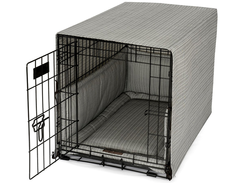 Bay Ebony Dog Crate Cover Up Set USA Made by Jax and Bones