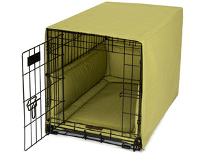 Bay Leaf Dog Crate Cover Up Set USA Made by Jax and Bones