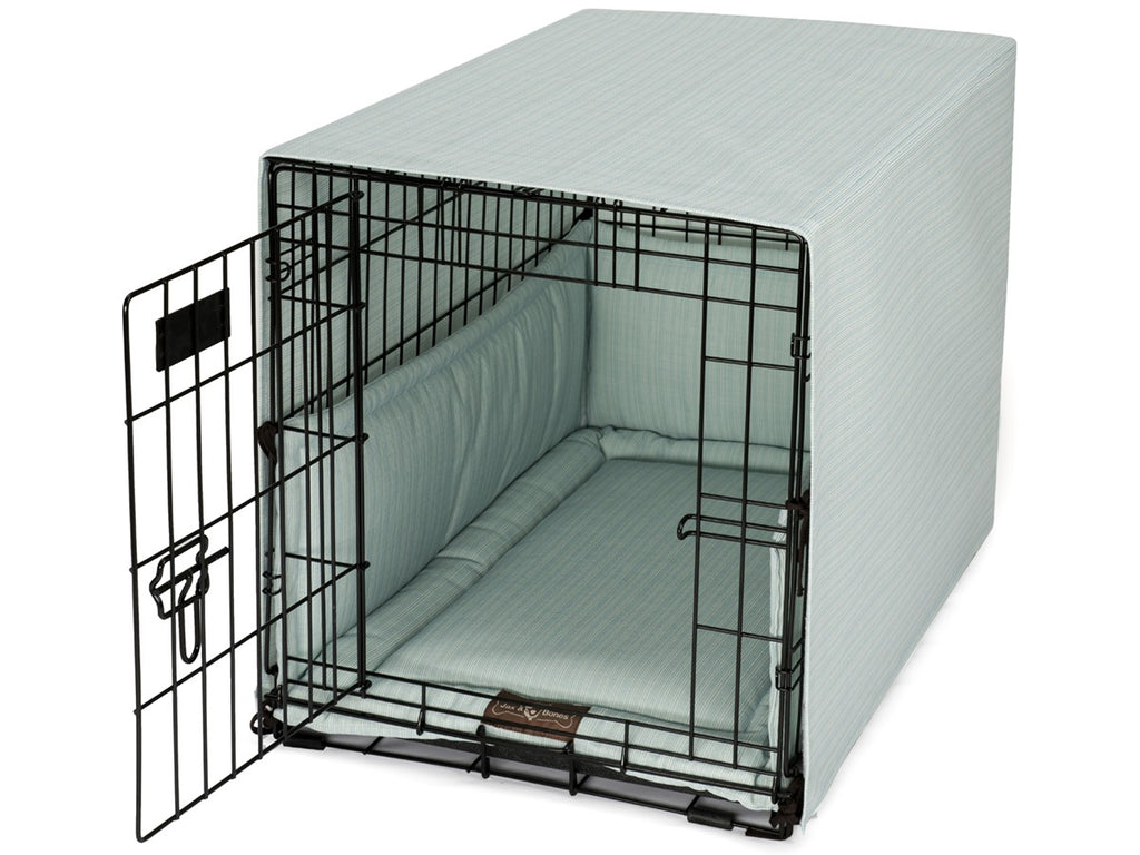 Bay Mist Dog Crate Cover Up Set USA Made by Jax and Bones