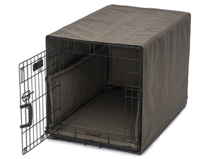 Windsor Charcoal Dog Crate Cover Up Set USA Made by Jax and Bones