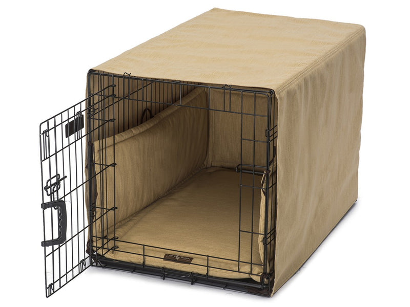 Windsor Gold Dog Crate Cover Up Set USA Made by Jax and Bones