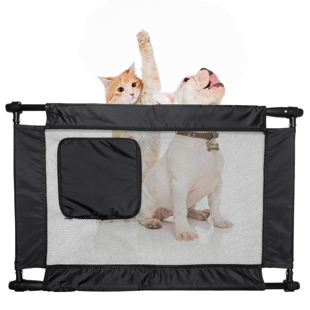 Porta-Gate Anti-Drilling Nylon Mesh Collapsible Folding Pet Cat / Dog Gate