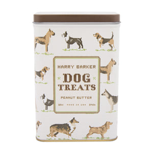 Crosstitch Dog Tin with Peanut Butter Biscuits