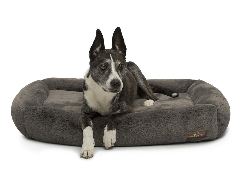Mink Grey NASA Grade Memory Foam Water-Resistant Cuddler Dog Bed