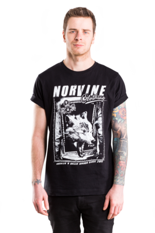 Norvine WOLF Mens CrewNeck Tee Shirt
