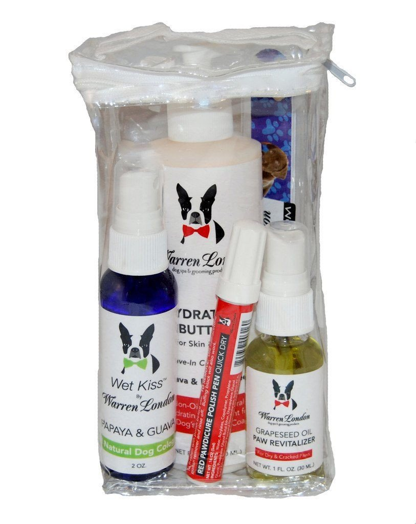 Warren London Cologne Conditioner Nail Polish Paw Revitalizer Dog Grooming Spa Gift Bundle Set