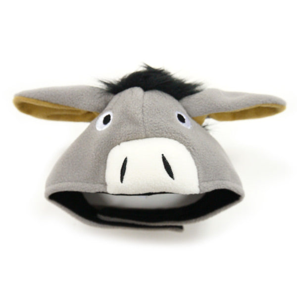 Grey Donkey Eyes & Ears Ultra-Soft Warm Adjustable Designer Pet Dog Hat Costume