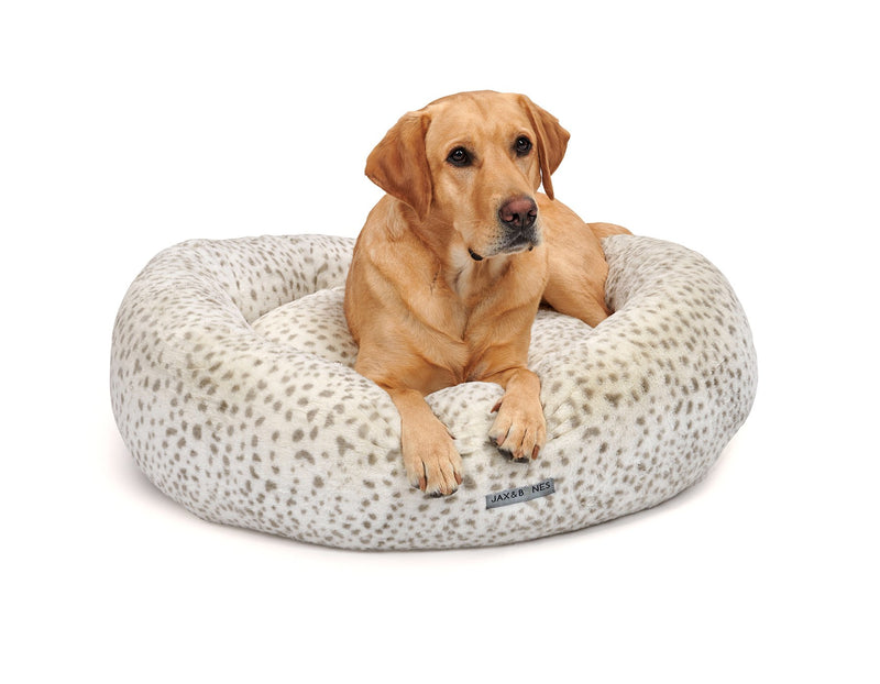 Cheetah Designer Hypo-Allergenic Fill Eco-Friendly Donut Dog Bed