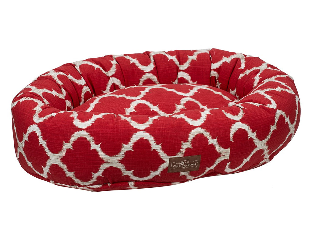 Monaco Scarlet Hypo-Allergenic Eco-Friendly Donut Dog Bed