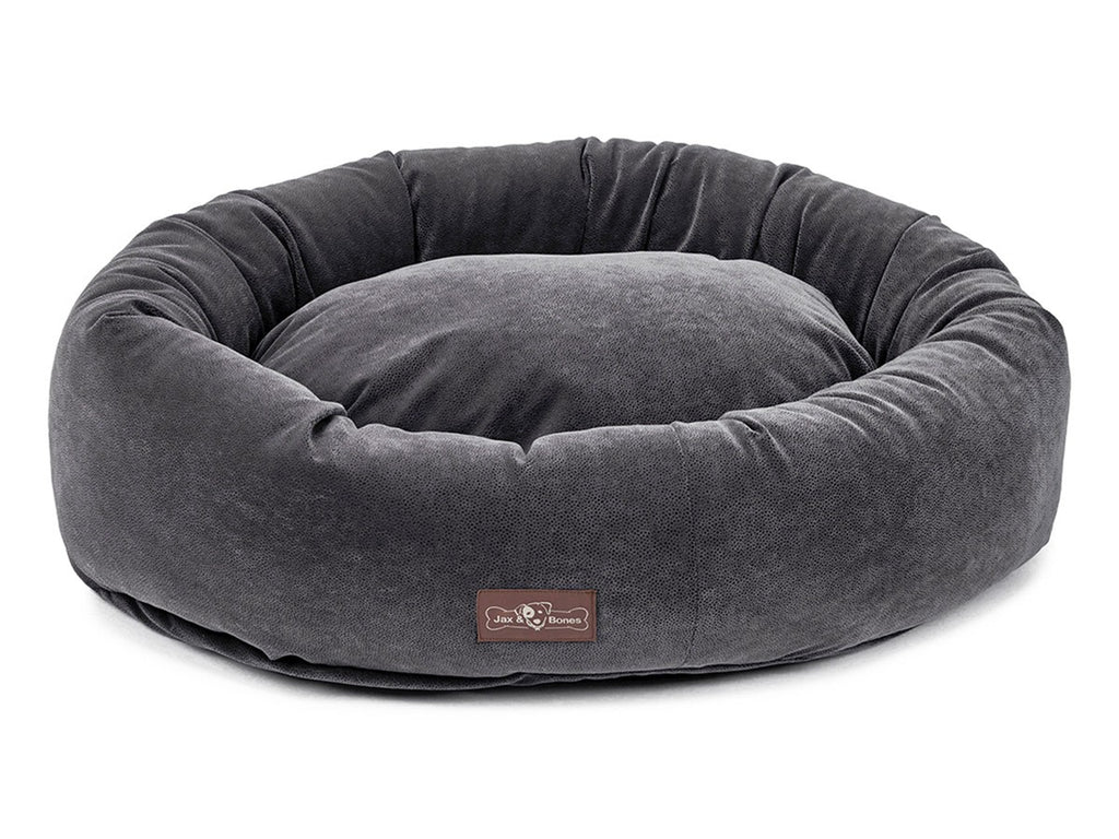 Jag Periwinkle Microfiber Hypo-Allergenic Eco-Friendly Donut Dog Bed