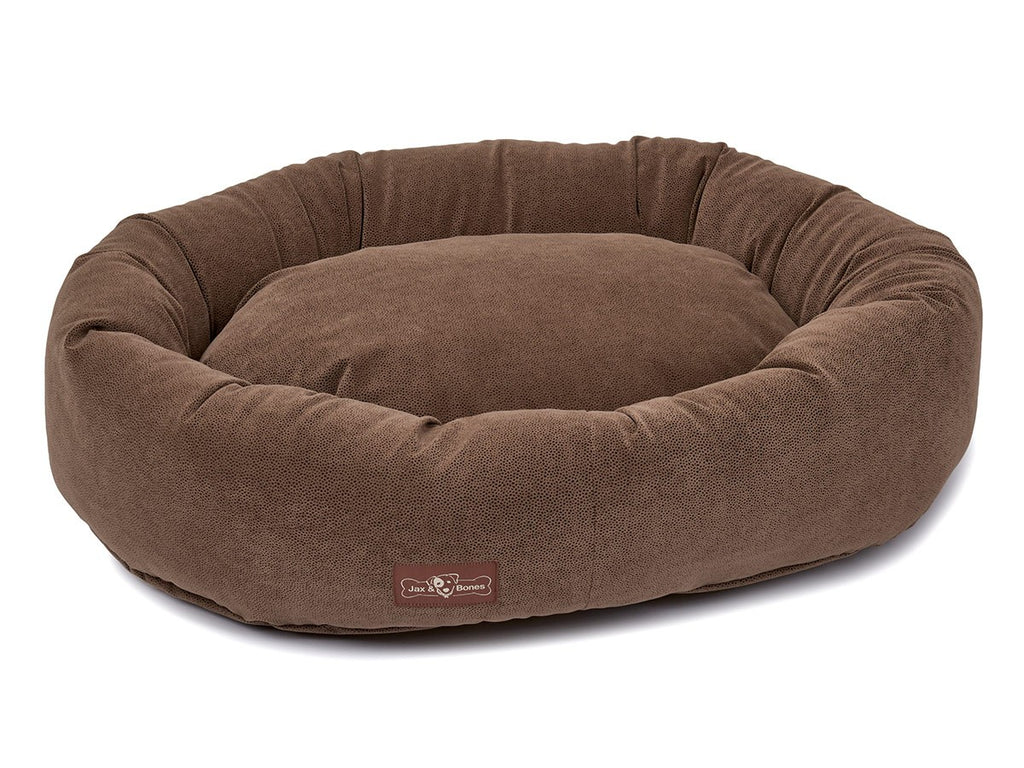 Jag Tan Designer Microfiber Hypo-Allergenic Eco-Friendly Donut Dog Bed