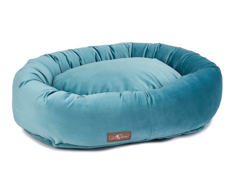Vintage Jewel Plush Velour Hypo-Allergenic Eco-Friendly Donut Dog Bed
